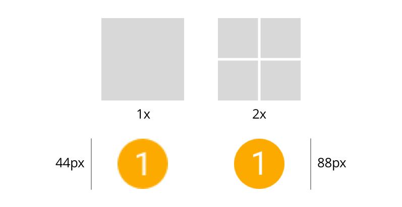 Die verschiedenen Pixeldichten resultieren in neuen Spezifikationen fürs Design