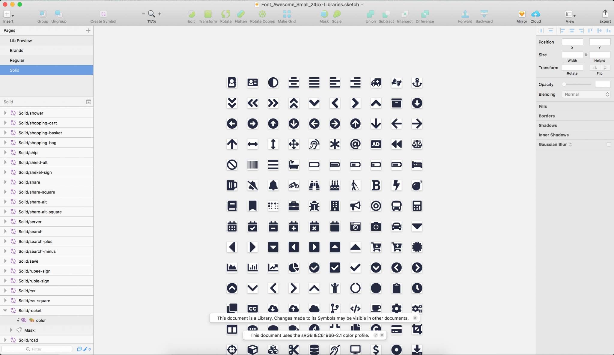 Font Awesome Icons als Sketch Library